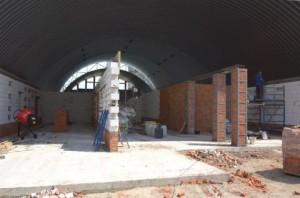 Процесс строительства спортивного комплекса в Харькове
