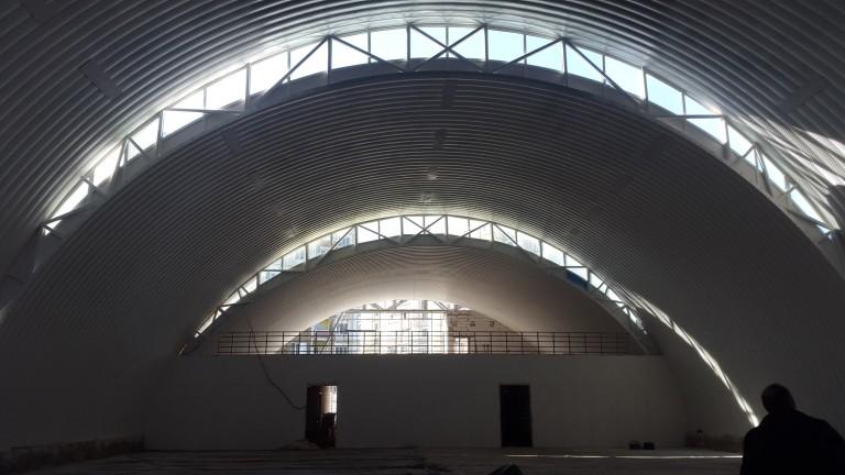 Строительство ангара в Песочине